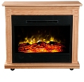 Light Oak  Heat Surge Fireplace Roll-n-Glow� EV.2 with LED Insert